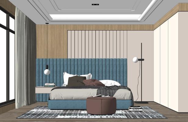 现代卧室SU模型【ID:948074841】