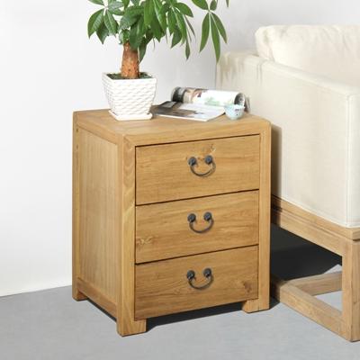 禅意中式原木色木艺床头柜3D模型【ID:914919690】