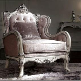 欧式新古典粉色布艺单人沙发3D模型【ID:914935683】