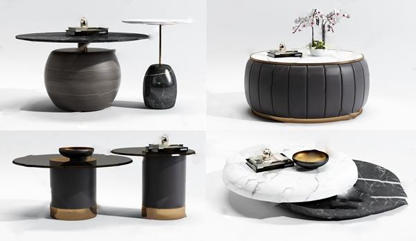 现代组合茶几3D模型【ID:646259828】