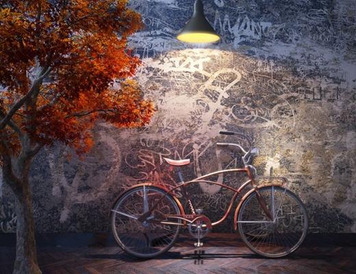 紅色自行車3D模型【ID:915001177】
