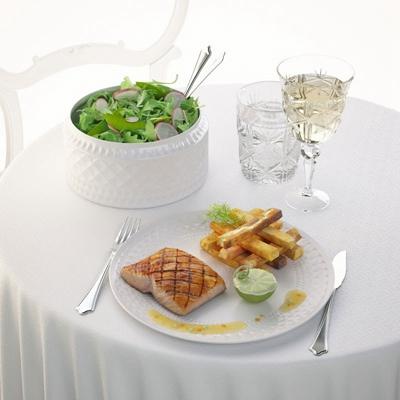 白色餐具组合3D模型【ID:915008307】