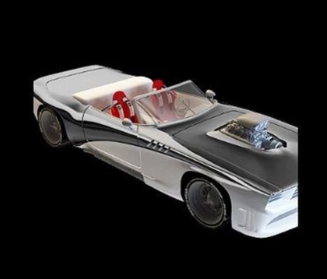 白色跑车3D模型【ID:915063990】