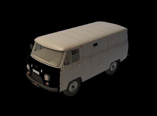 灰色公交车3D模型【ID:915064829】