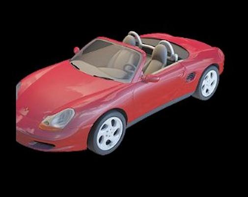红色跑车3D模型【ID:915064905】
