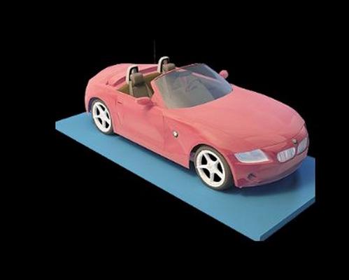 红色跑车3D模型【ID:915064909】
