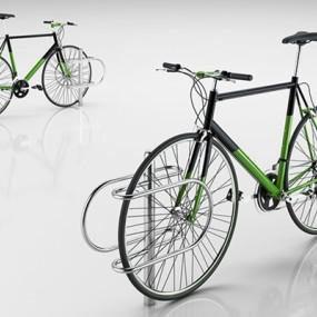 绿色自行车3D模型【ID:915069109】