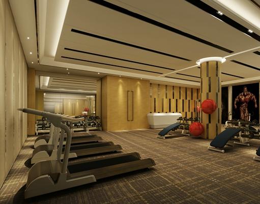 现代健身房3D模型【ID:915070665】