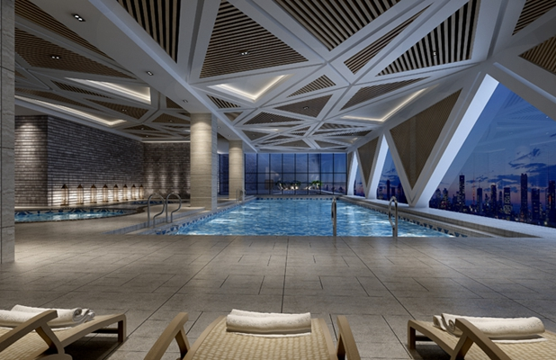 现代游泳馆3D模型【ID:915089916】