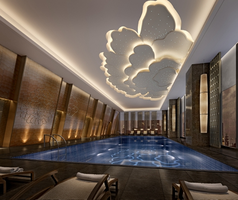 新中式游泳馆3D模型【ID:915091900】