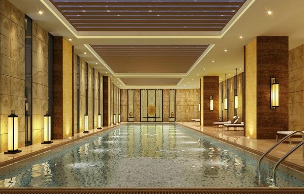 新中式游泳馆3D模型【ID:915186909】
