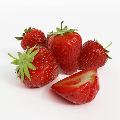 红色水果3D模型【ID:915233838】