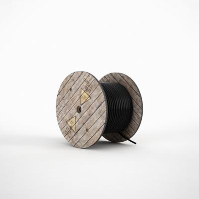 黑色电缆3D模型【ID:915240886】