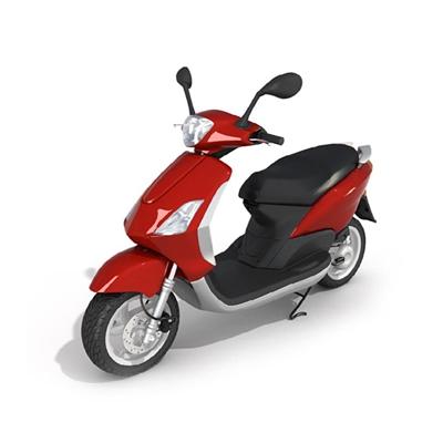 红色电动车3D模型【ID:915241034】