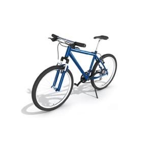 蓝色自行车3D模型【ID:915241116】