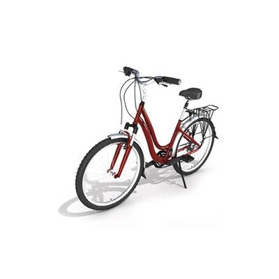 红色自行车3D模型【ID:915241125】