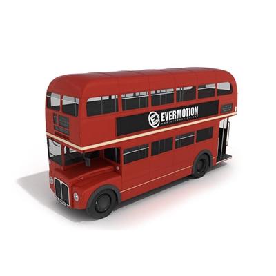 红色公交车3D模型【ID:915241880】