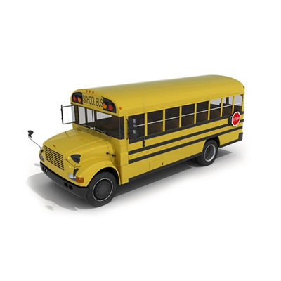 黄色公交车3D模型【ID:915241884】