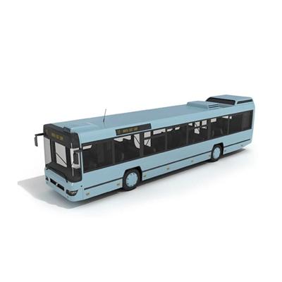 蓝色公交车3D模型【ID:915241886】