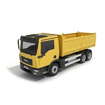 黄色卡车3D模型【ID:915242003】