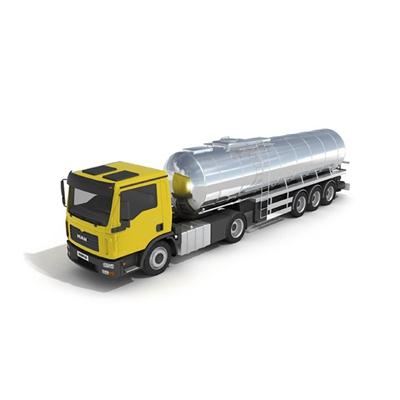 黄色油罐车3D模型【ID:915243761】