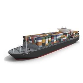 黑色货船3D模型【ID:915243820】