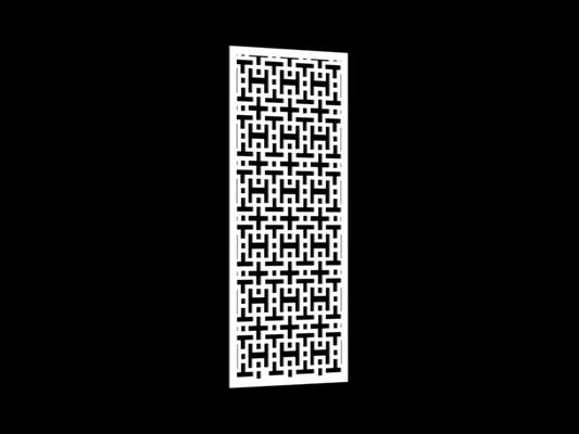 白色雕花隔断73D模型【ID:915260393】