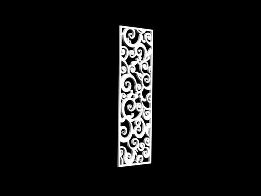 白色雕花隔断213D模型【ID:915261313】