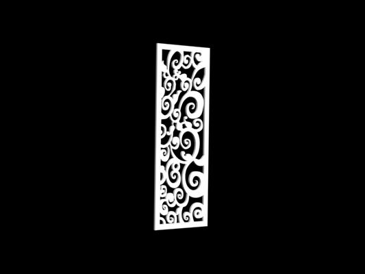白色雕花隔断223D模型【ID:915261315】