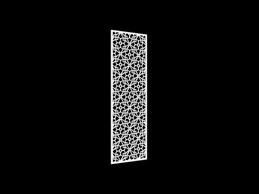 白色雕花隔断343D模型【ID:915261339】
