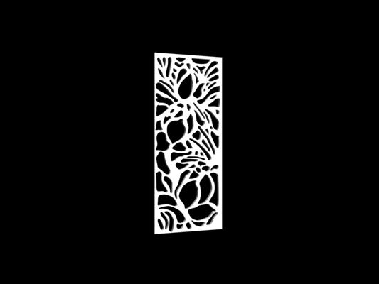 白色雕花隔断363D模型【ID:915261341】