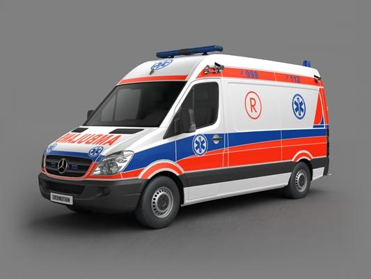 救护车3D模型【ID:915268148】