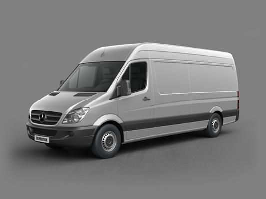 灰色货车3D模型【ID:915268437】