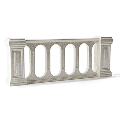 欧式简约灰色大理石栏杆3D模型【ID:915273118】