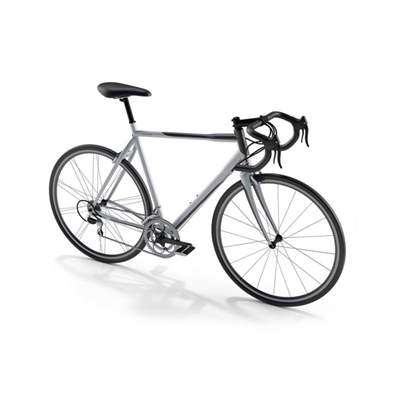 白色自行車3D模型【ID:915276145】