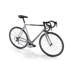 白色自行车3D模型【ID:915276145】
