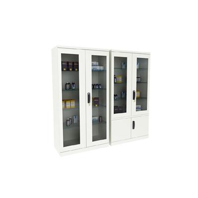 现代白色长方形铁艺陈列柜3D模型【ID:915280267】