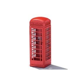 电话亭3D模型【ID:915302048】