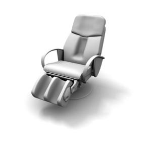 现代白模皮质按摩椅3D模型【ID:915337807】