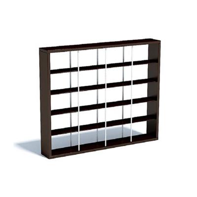 现代黑色长方形木艺陈列柜3D模型【ID:915416252】