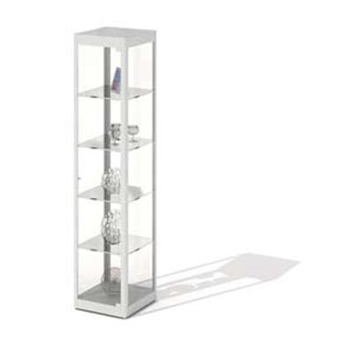 现代白色玻璃陈列柜3D模型【ID:915419270】