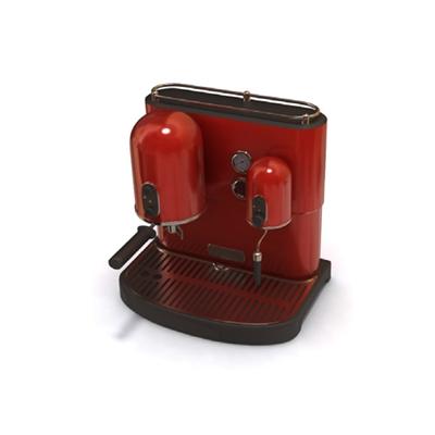 红色咖啡机3D模型【ID:915442134】
