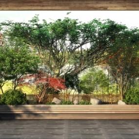 新中式园林景观植物3D模型【ID:136240424】