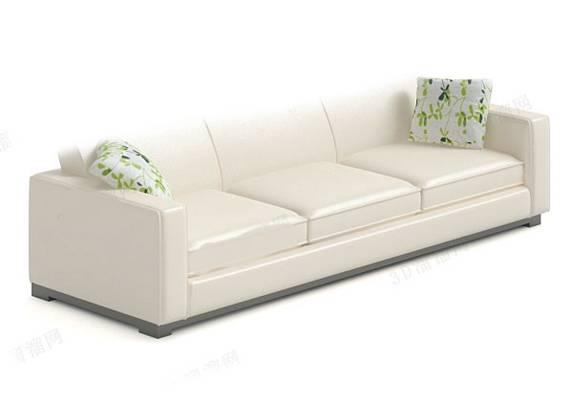 三人沙发283D模型【ID:917037826】