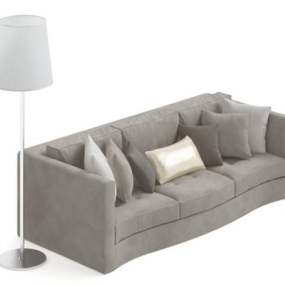 三人沙发333D模型【ID:917038802】