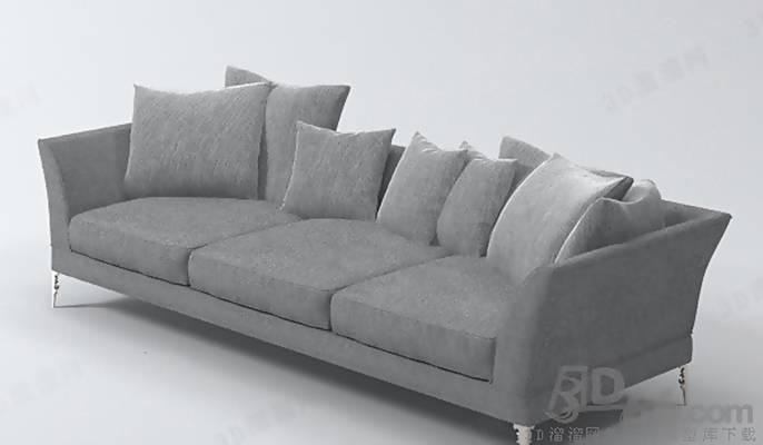 三人沙发1793D模型【ID:917046845】