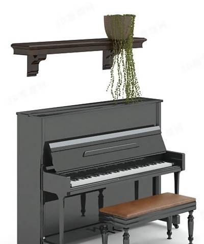 钢琴23D模型【ID:917100959】