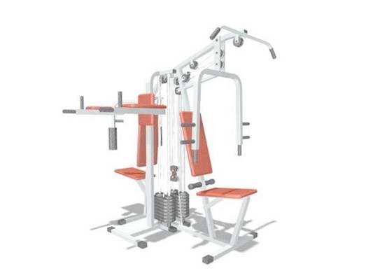 健身器材153D模型【ID:917124554】