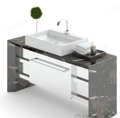 浴室柜43D模型【ID:917132465】