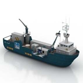 货船13D模型【ID:917137801】